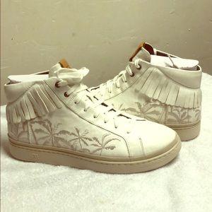 UGG Cali High Fringe Palm Sneakers Size 11
